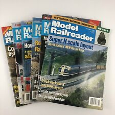 Model Railroader Train Lot of 6 Magazines 1990's N Scale Layout Multideck Layout
