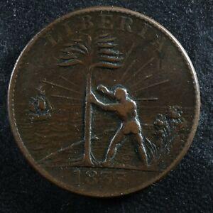 One cent 1833 Liberia KM#Tn1 Copper CH-1