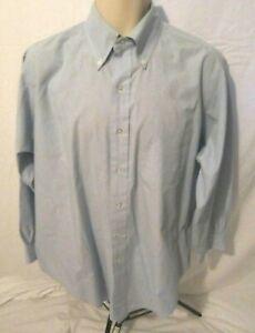 Brooks Brothers Long Sleeve Blue Shirt Pocket 161/2 - 32 Button Mens 082