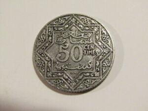 Morocco 1921-1924 Py 50 Centimes Coin