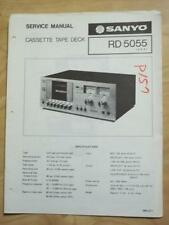 Original Sanyo Service Manual for the RD5055 Cassette Tape Deck   mp