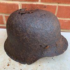 Original WW2 Normandy Relic German Army Helmet - #23