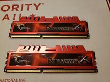 LOT OF 2 *4GB DDR3 PC3-12800 G.SKILL F3-12800CL9D-8GBXL - 8GB Total DDR3