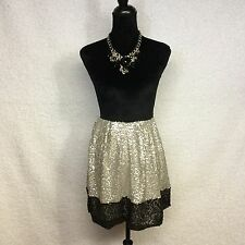 NWOT Women's Designer Isani Skirt Target Sequins Wedding Black Gold Silver Sz.XL