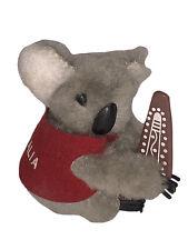 New listing Vtg Koala Bear I Love Australia Flag Clip On Doll Figure 80's Plush Pencil 80's