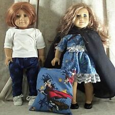 "Doll Clothes Made2Fit American Girl 18"" inch Lot 6 pc Harry Potter Cape Pajamas"