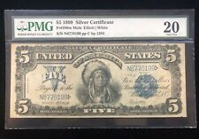 1899 $5 Large Size Indian Chief Silver Certificate Fr#280m Mule Note PMG VF-20