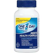 One A Day Men Health Formula Mens Multivitamin Immune Energy Muscle 200 Count