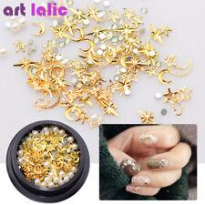 Rhinestone Gold Shiny Nail Art Supplies Ebay