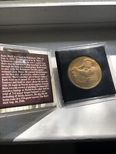"""BABE RUTH Collectible Coin  Signature """"The Sultan of Swat"""""""