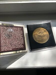 "BABE RUTH Collectible Coin  Signature ""The Sultan of Swat"""
