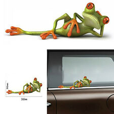 2PC 3D Funny Green Lying Frog Car Stickers Wall Truck Window Vinyl Decal Sticker