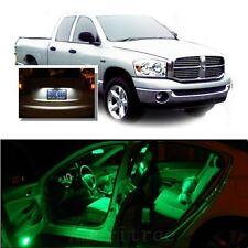 For Dodge Ram 1500 2002-2008 Green LED Interior Kit + White License Light LED