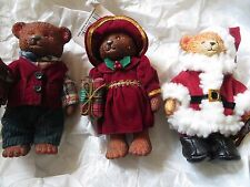 RUSS Bears From The Past Boy & Girl with Present Christmas Holiday SantaRET NWT