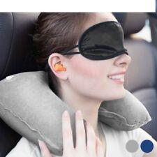 3PCS Travel Pillow Set Neck Pillow Eye Mask Ear Plugs Fast Delivery UK Seller