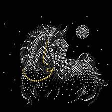 Horse Rhinestone iron on transfer hot fix applique full moon Craft decoration