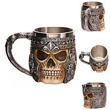 1x Gothic Skull Decorative Multi Skull Tankard Mug Drinking Cup Birthday Gift