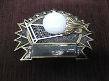 volleyball trophy award resin plate Rf2689 flaming ball