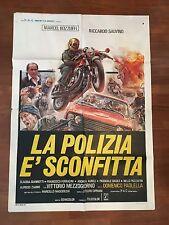 MANIFESTO 2F LA POLIZIA E' SCONFITTA,BOLOGNA,Bozzuffi Mezzogiorno,auto car moto