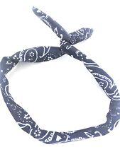 ABAV Drahthaarband Stirnband Kopfschmuck Haarband Damen  Mode Paisley Dunkelblau
