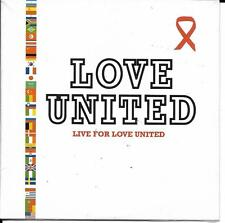 CD CARTONNE CARDSLEEVE LOVE UNITED LIVE FOR 2T ECRIT PAR OBISPO NEUF SCELLE