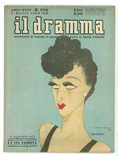 IL DRAMMA N. 375 1942 ANNA MAGNANI ONORATO VALENTINO KATAJEV LA VIA FIORITA