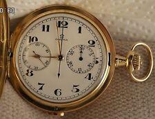 Omega Taschenuhr 18 k, Savonette, 50 er Jahre ca.,exz.Zustand