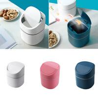 Mini Desktop Garbage Basket Plastic Trash Can Dustbin Home Table Office Supplies