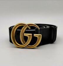 Gucci Gürtel. Leder. mit Doppel G Schnalle. Gr. 85•34