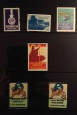 Cinderella Poster Stamp Reklamemarke Hungary Exhibition Stamps Lot of 6