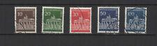 1966-67 Allemagne Berlin porte de Brandebourg 5 timbres oblitérés /T2202