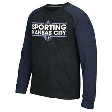 Sporting Kansas City MLS Adidas Men's Climawarm Navy Blue Ultimate Crew Fleece