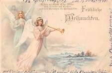 Froehliche Weihnachten! Merry Christmas! Beautiful Women Angels, Singing