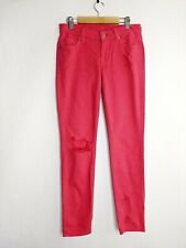 Seven 7 For All Mankind Colored Skinny Jeans Woman SZ 25 in Hot Pink