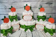 3 Tier Diaper Cake and sets - Little Cutie Orange Citrus Theme - Clementine
