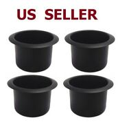 US SHIP Black Jumbo Aluminum Poker Table Cup Holders Set of 4