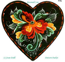 Rosemaling Workshop Heart Pattern Package, FREE SHIPPING, Stock #38p