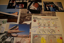Signed Braniff Concorde Safety Card Chief  Concorde Pilot the late Capt CHEMEL *
