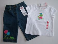 NWT Gymboree Tennis Match 6-12 Months Short Stack Turtle Tee Top & Jeans