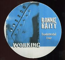 Bonnie Raitt 1998 Fundamental Concert Tour Backstage Pass! Authentic Perri #1