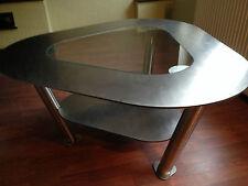 Table basse triangulaire-travail manuel-Acier inoxydable environ 1m Max. diagonal/hauteur 0,5m