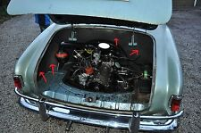 VW KARMANN GHIA, ENGINE COMP. SOUND ABSORBER  5 PCS.---> HIGH QUALITY 1956-1974