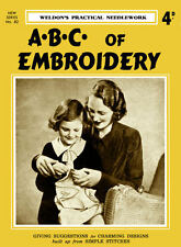 Weldon's 4D #82 c.1934 Vintage Instructions ABC's of Embroidery for Beginners