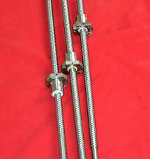 3 Anti Backlash Ballscrew Rm1605 3508001200mm C7 End Machinedball Nut Cnc