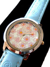 HELLO KITTY LADIES WATCH NEW WITH OUT TAG /  BABY  BLUE BAND /NWO TAG