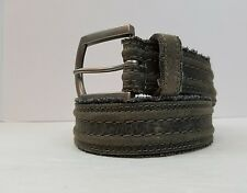 Belts Mens Accessories BKE Buckle Brand Belt Gray Leather Size 36