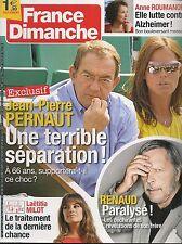 FRANCE DIMANCHE N° 3591--PERNAULT SEPARATION/ROUMANOFF ALZHEIMER/MILOT/RENAUD