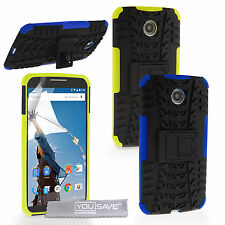Yousave Accessories For Motorola Nexus 6 Hard Combo Stand Phone Case Cover UK