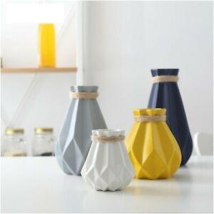 Flower Vase Matt Diamond Porcelain Ceramic Modern Home Office Tabletop Decor