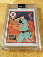 MIKE TROUT TOPPS PROJECT 2020 #63 2011 TOPPS #US175 SP ANGELS ARTWORK FUCCI RARE